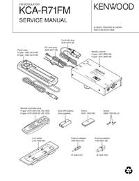 Service Manual Kenwood KCA-R71FM