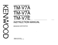 User Manual Kenwood TM-V7A