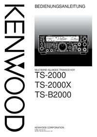 Manual del usuario Kenwood TS-2000