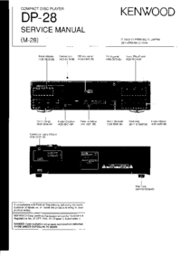 Руководство по техническому обслуживанию Kenwood DP-28