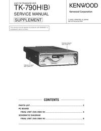 Instrukcja serwisowa Kenwood TK-790H(B)