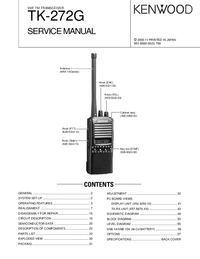 Manual de servicio Kenwood TK-272G