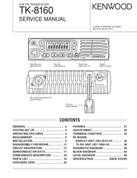 Instrukcja serwisowa Kenwood TK-8160