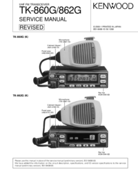 Service Manual Kenwood TK-862G