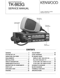 Instrukcja serwisowa Kenwood TK-863G