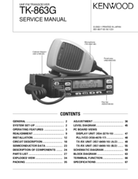 Manuale di servizio Kenwood TK-863G