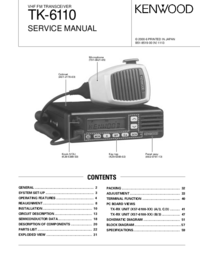 Manual de servicio Kenwood TK-6110