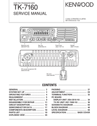 Service Manual Kenwood TK-7160