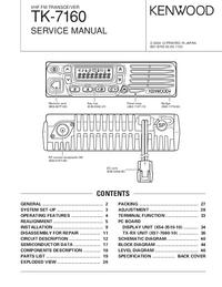 manuel de réparation Kenwood TK-7160
