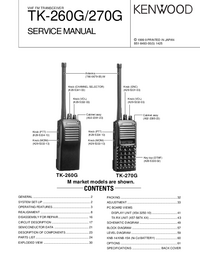 Manual de servicio Kenwood TK-260G