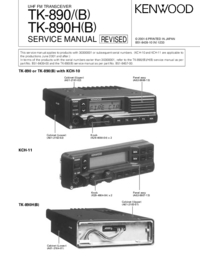 Manual de servicio Kenwood TK-890
