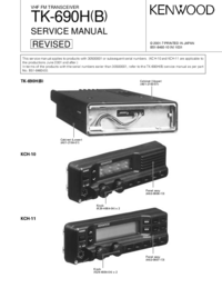 Manual de servicio Kenwood TK-690H