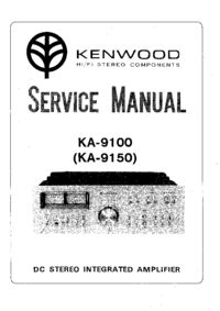 Manual de servicio Kenwood KA-9150
