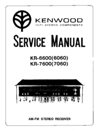 Manual de servicio Kenwood KR-6060