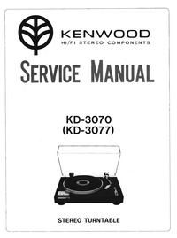 Service Manual Kenwood KD-3070