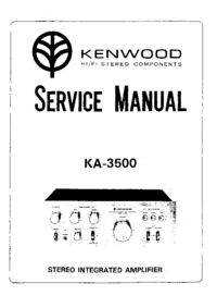 Service Manual Kenwood KA-3500