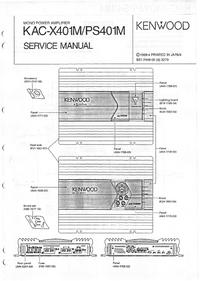 Service Manual Kenwood KAC-X401M
