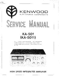 Manual de servicio Kenwood KA-5011