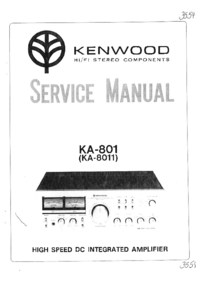 Service Manual Kenwood KA-801
