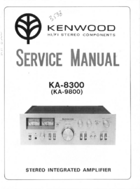 Руководство по техническому обслуживанию Kenwood ΚΑ-8300