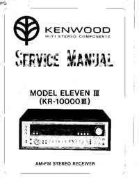 Manual de servicio Kenwood ELEVEN III