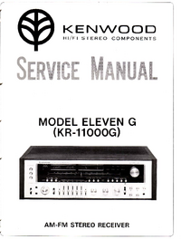 Service Manual Kenwood ELEVEN G