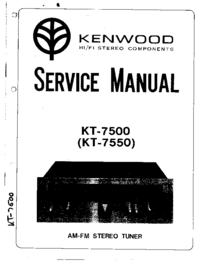 Service Manual Kenwood KT-7500