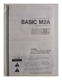 Manuale d'uso Kenwood BASIC M2A