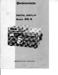User Manual Kenwood DG-5