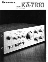 Scheda tecnica Kenwood KA-7100