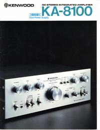 User Manual Kenwood KA-8100