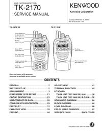 Manual de serviço Kenwood TK-2170