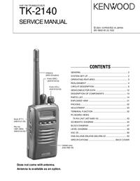 manuel de réparation Kenwood TK-2140