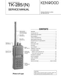 Instrukcja serwisowa Kenwood TK-285/(N)
