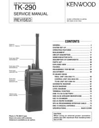 Servicehandboek Kenwood TK-290