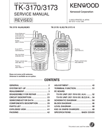 Service Manual Kenwood TK-3173