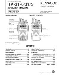 manuel de réparation Kenwood TK-3170