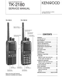 Service Manual Kenwood TK-2180 K