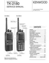 Руководство по техническому обслуживанию Kenwood TK-2180 K