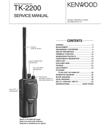 Service Manual Kenwood TK-2200
