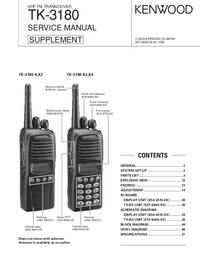 Service Manual Kenwood TK-3180 K