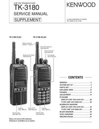 manuel de réparation Kenwood TK-3180 K