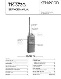 Service Manual Kenwood TK-373G