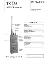 Manual de servicio Kenwood TK-385