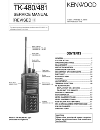 Service Manual Kenwood TK-480