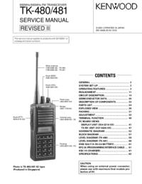 Instrukcja serwisowa Kenwood TK-480