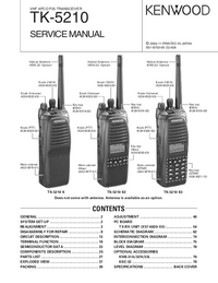 Service Manual Kenwood TK-5210 K