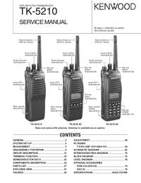 Instrukcja serwisowa Kenwood TK-5210 K