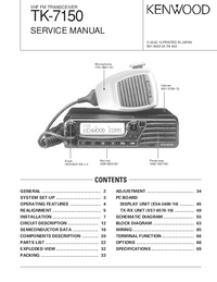 Manual de servicio Kenwood TK-7150