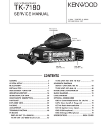 Service Manual Kenwood TK-7180